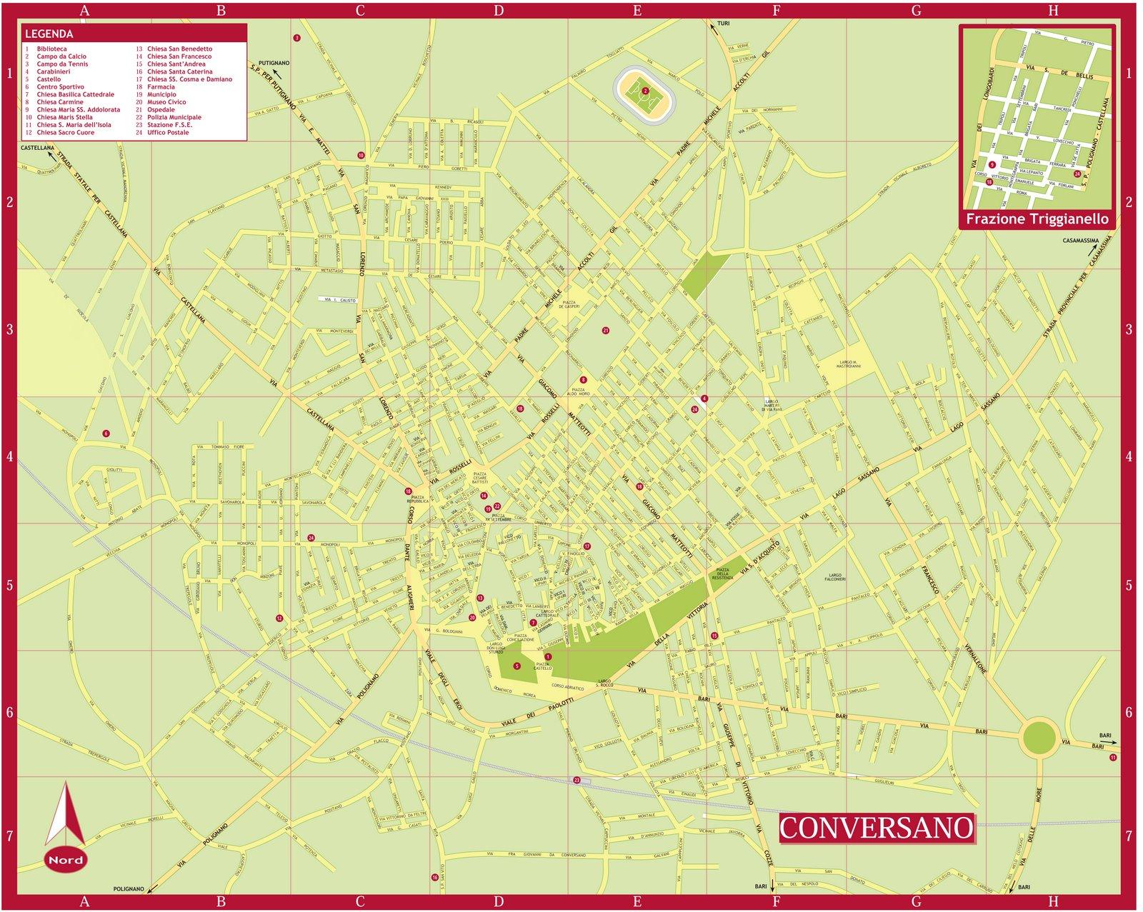 Cartina Puglia Locorotondo